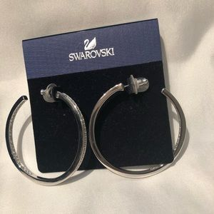 Swarovski Large Hoops Pierced Earrings